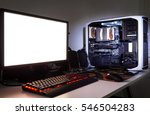 custom built gaming computer... | Shutterstock . vector #546504283