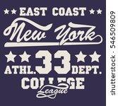 new york sport wear typography... | Shutterstock . vector #546509809