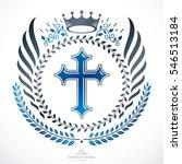 heraldic coat of arms  vintage... | Shutterstock . vector #546513184