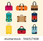 color bags icon vector set.... | Shutterstock .eps vector #546517408