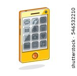 smartphone with options  cell... | Shutterstock . vector #546532210
