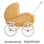 Vintage Baby Buggy Isolated On...