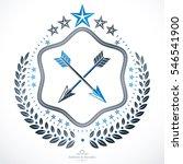 heraldic design  vintage emblem.... | Shutterstock . vector #546541900