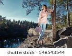 sexy beautiful woman wear pink... | Shutterstock . vector #546543544