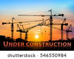 silhouette of construction site ... | Shutterstock . vector #546550984