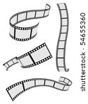film strip roll set | Shutterstock .eps vector #54655360