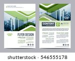 greenery brochure layout design ...
