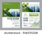 greenery brochure layout design ... | Shutterstock .eps vector #546555208