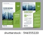 greenery brochure layout design ... | Shutterstock .eps vector #546555220
