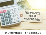 refinance your mortgage words... | Shutterstock . vector #546555679