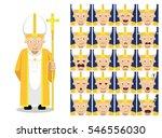 religion christian pope cartoon ... | Shutterstock .eps vector #546556030