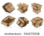 hand drawing packing carton... | Shutterstock .eps vector #546570538
