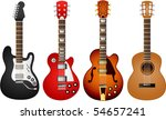 vector  guitar set 1 | Shutterstock .eps vector #54657241