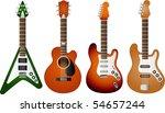 vector  guitar set 2 | Shutterstock .eps vector #54657244