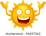 vector  cartoon sun characters 3 | Shutterstock .eps vector #54657262