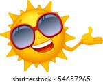 vector  cartoon sun characters 4