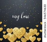 luxury elegant happy valentine... | Shutterstock .eps vector #546574630