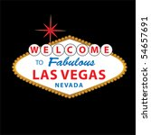 welcome to fabulous las vegas... | Shutterstock .eps vector #54657691