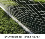 soccer goal net and green grass ... | Shutterstock . vector #546578764