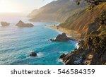 Big Sur  California  Usa. Road...