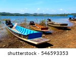 wooden boats on the lake shore  ... | Shutterstock . vector #546593353