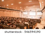 blur image the meeting room | Shutterstock . vector #546594190