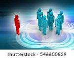 3d illustration of leadership... | Shutterstock . vector #546600829