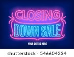 store closing sale vector... | Shutterstock .eps vector #546604234