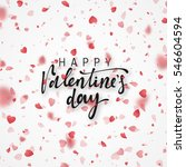 happy valentines day lettering... | Shutterstock .eps vector #546604594