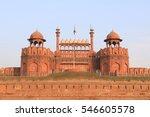 indian landmarks red fort delhi ...   Shutterstock . vector #546605578