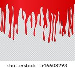 red paint dripping.paint drips... | Shutterstock .eps vector #546608293
