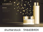 cosmetic product poster  gold... | Shutterstock .eps vector #546608404