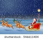 christmas background with santa ... | Shutterstock .eps vector #546611404
