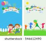 welcome back to school | Shutterstock .eps vector #546612490