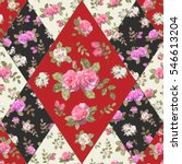 seamless floral patchwork... | Shutterstock .eps vector #546613204