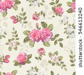seamless vintage background... | Shutterstock .eps vector #546613240
