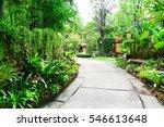 cement pathway through a green... | Shutterstock . vector #546613648