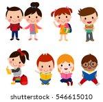 pupils boys and girls   Shutterstock .eps vector #546615010