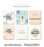 set of valentine's day greeting ... | Shutterstock .eps vector #546620896