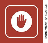 hand   icon   isolated. flat ... | Shutterstock .eps vector #546621268