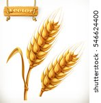 wheat  3d vector icon | Shutterstock .eps vector #546624400