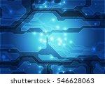 vector circuit board background ... | Shutterstock .eps vector #546628063