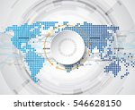 abstract future technology... | Shutterstock .eps vector #546628150