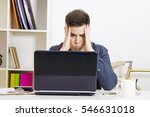 young man in front of the...   Shutterstock . vector #546631018