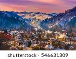 sunset light over medieval... | Shutterstock . vector #546631309