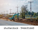 excavation work on the... | Shutterstock . vector #546631660