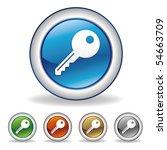 vector key icon set | Shutterstock .eps vector #54663709