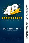 48 years anniversary invitation ... | Shutterstock .eps vector #546640999