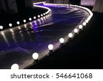 empty runway fashion show with...   Shutterstock . vector #546641068