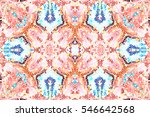 mosaic seamless colorful... | Shutterstock . vector #546642568